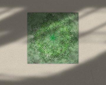 Mandala chic in grün von Rietje Bulthuis