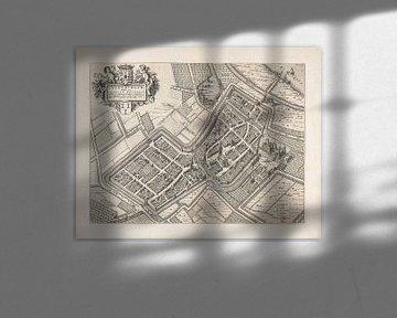 Oude kaart van Culemborg van omstreeks 1652. van Gert Hilbink