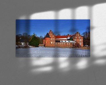Herten sneeuw panorama van Edgar Schermaul