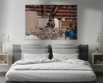 Sloop van een gebouw in Halle Saale in Duitsland van Babetts Bildergalerie
