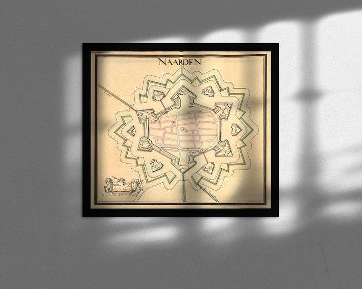 Sfeerimpressie: Oude kaart van de vesting Naarden van omstreeks 1715. van Gert Hilbink