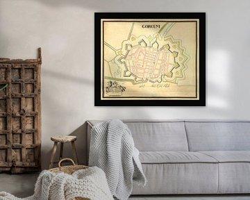 Alte Karte der Stadt Gorinchem aus der Zeit um 1652. von Gert Hilbink