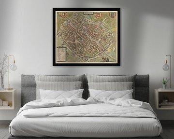 Alte Karte der Stadt Tournai aus der Zeit um 1588. von Gert Hilbink