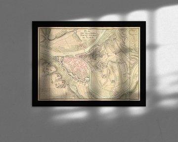 Alte Karte der Stadt Namur aus der Zeit um 1710. von Gert Hilbink