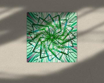 Stern-Mandala, grün von Rietje Bulthuis