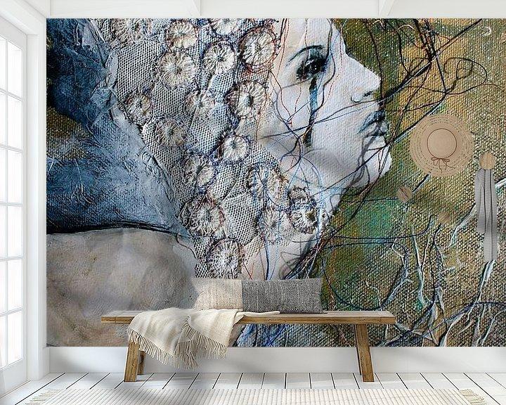 Sfeerimpressie behang: 'Serendipity 2' van Kim Rijntjes