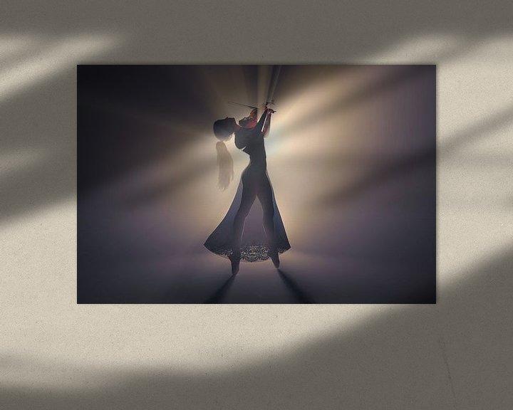 Sfeerimpressie: Viool spelend in het licht van Arjen Roos
