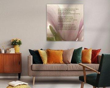 Magnolia met poëzie von Bargo Kunst