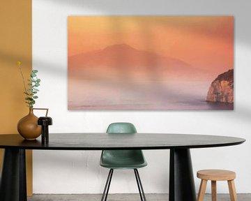Italien Golf von Neapel Vesuv von Schildersatelier van der Ven