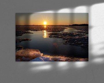 Zonsopkomst Sneekermeer van Jaap Terpstra