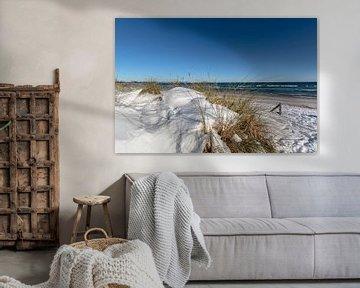Dünen im Schnee, Strand in Juliusruh auf Rügen von GH Foto & Artdesign