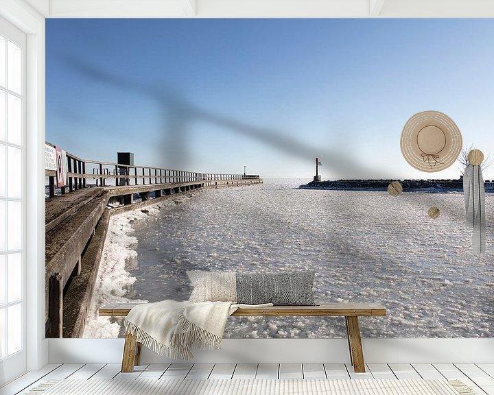 Sfeerimpressie behang: Haveningang Edam van Johan Zwarthoed
