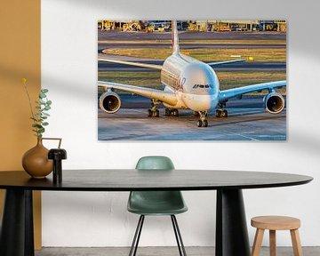 Qatar Airways A380 in Sydney van hugo veldmeijer