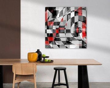 Zwart wit ontmoet rood versie 1 van Christine Bässler