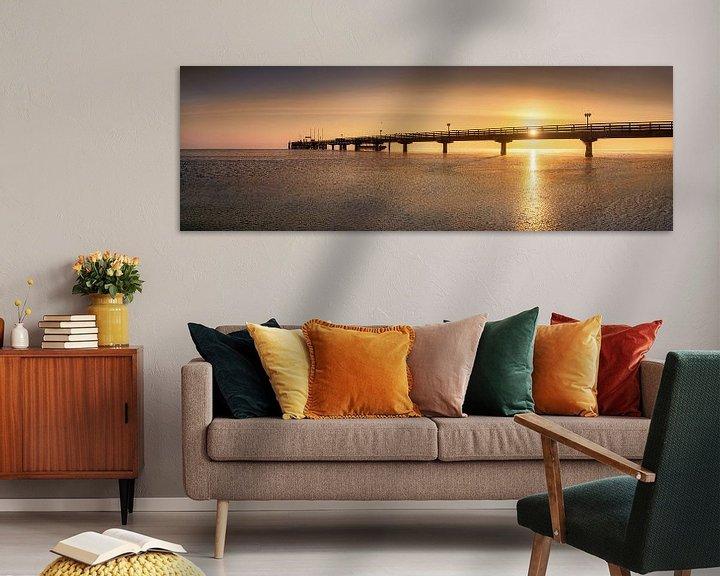 Beispiel: Sonnenaufgang an der Seebrücke von Scharbeutz von Voss Fine Art Fotografie