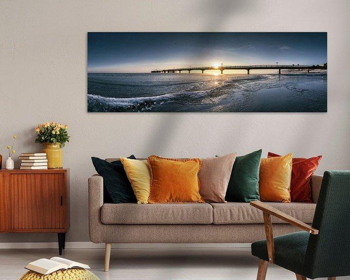 Sfeerimpressie: Strand met de pier van Scharbeutz uit Scharbeutz aan de Oostzee van Voss Fine Art Fotografie