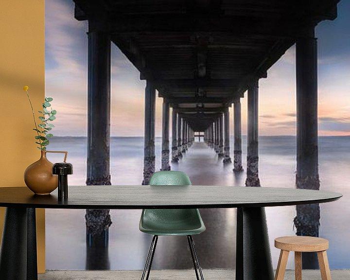 Beispiel fototapete: Stimmungsvolles Panorama von der Seebrücke in Pelzer Haken an der Ostsee von Voss Fine Art Fotografie