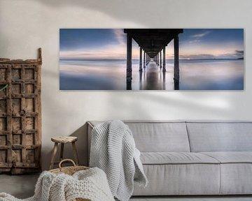 Stimmungsvolles Panorama von der Seebrücke in Pelzer Haken an der Ostsee von Fine Art Fotografie