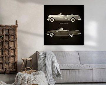 Buick Skylark Cabriolet 1956 en Ford Thunderbird Cabriolet 1957