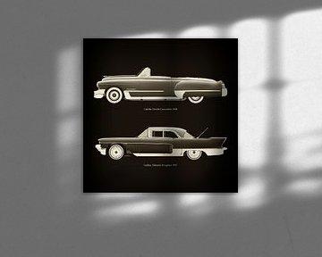 Cadillac Deville Convertible 1948 en Cadillac Eldorado Brougham 1957