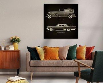 Cadillac V16 Town car 1933 en Cadillac Eldorado Brougham 1957