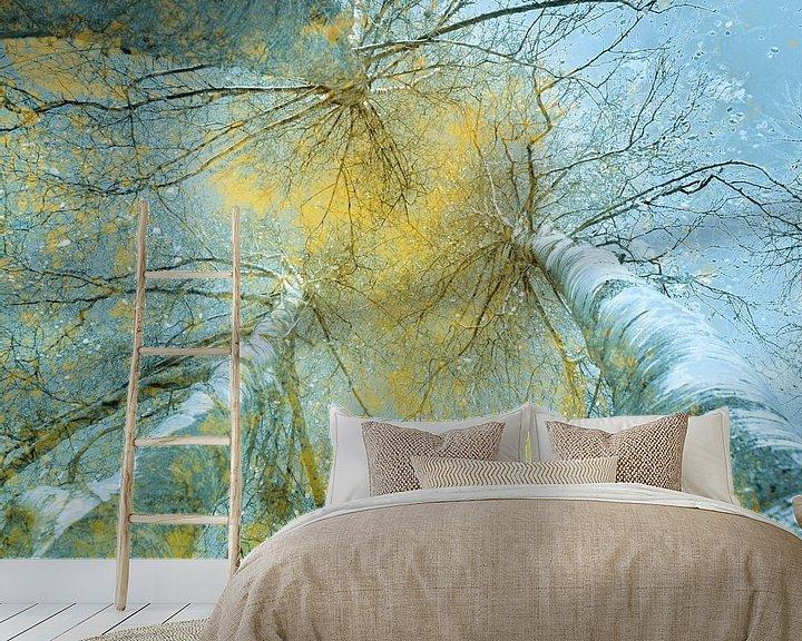 Sfeerimpressie behang: Kijk naar boven van Marijke van Loon