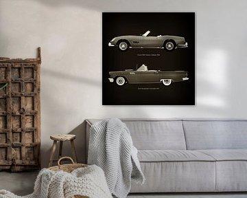 Ferrari 250GT Spyder California 1960 en Ford Thunderbird Convertible 1957