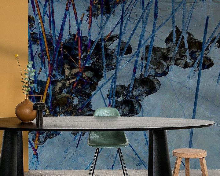 Sfeerimpressie behang: Abstract landschap van Marijke van Loon