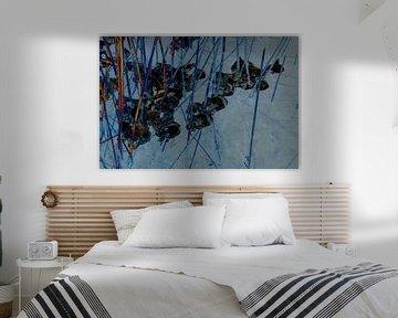 Abstract landschap van Marijke van Loon