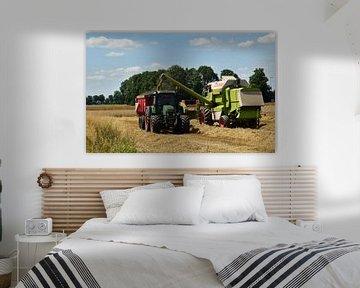 Combinaison avec tracteur sur Heidi de Vries