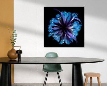 Blumenkreis in Blau von Greetje van Son
