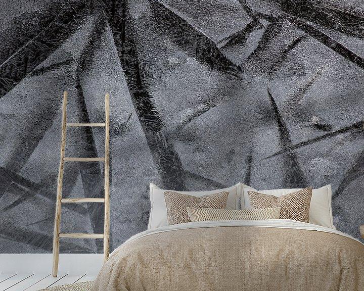 Impression: les fleurs de glace ou les étoiles de glace sur Wendy de Waal