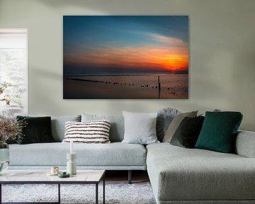 Sunset Havenweg Vlieland.