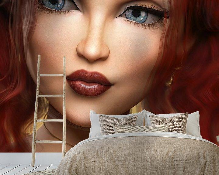 Sfeerimpressie behang: Queen of Hearts van Arjen Roos
