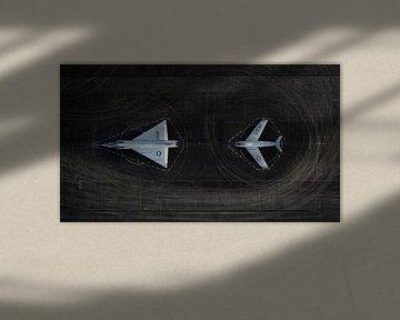 Amerikaanse vliegtuigen bij Soesterberg van Sebastiaan van der Ham