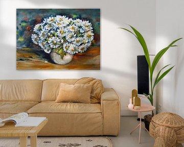 Gänseblümchen in einer Vase von h-Edys