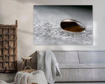 Tijgeroog een goud met bruine edelsteen 'glanzend op het ijs' van JM de Jong-Jansen