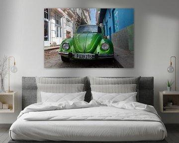 Groene oldtimer Cuba van Tom Hengst