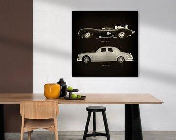 Jaguar D Type 1956 en Jaguar MK-2 1963