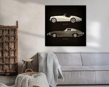 Jaguar XK-120 1954 en Jaguar E-type 1960