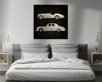 Jaguar XK-120 1954 en Jaguar MK-2 1963
