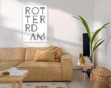 Städtemotiv Typo Rotterdam
