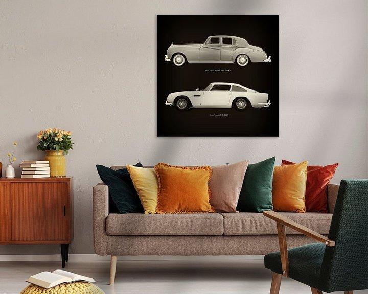 Sfeerimpressie: Rolls Royce Silver Cloud III 1963 en Aston Martin DB5 1963 van Jan Keteleer