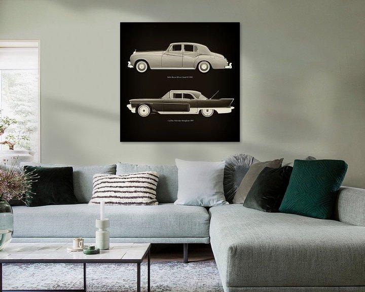 Sfeerimpressie: Rolls Royce Silver Cloud III 1963 en Cadillac Eldorado Brougham 1957 van Jan Keteleer