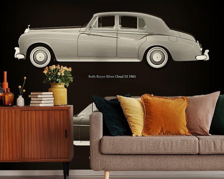 Sfeerimpressie behang: Rolls Royce Silver Cloud III 1963 en Cadillac Eldorado Brougham 1957 van Jan Keteleer