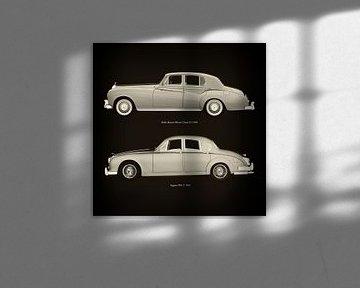 Rolls Royce Silver Cloud III 1963 en Jaguar MK-2 1963