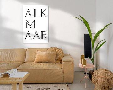 Städtemotiv Alkmaar Typo