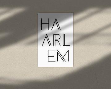 Städtemotiv Haarlem Typo
