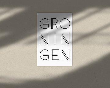 Städtemotiv Groningen Typo