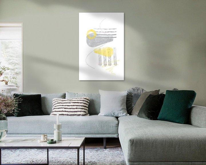 Beispiel: Aquarell-Formen Nr. 3 | Illuminating Yellow & Ultimate Grey von Melanie Viola